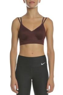 NIKE - Γυναικείο αθλητικό μπουστάκι Nike Indy Breathe μπορντό