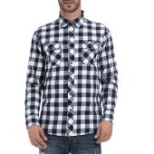 BASEHIT - Αντρικό πουκάμισο BASEHIT άσπρο-μπλε image
