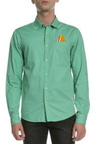 SCOTCH & SODA - Ανδρικό μακρυμάνικο πουκάμισο Scotch & Soda πράσινο πουά
