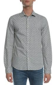 SCOTCH & SODA - Ανδρικό πουκάμισο Scotch & Soda λευκό - μαύρο