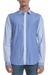 SCOTCH & SODA - Ανδρικό πουκάμισο Scotch & Soda ριγέ μπλε