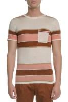 SCOTCH & SODA - Ανδρική κοντομάνικη μπλούζα SCOTCH & SODA ροζ-μπεζ-καφέ