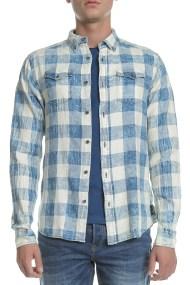 SCOTCH & SODA - Ανδρικό πουκάμισο Scotch & Soda καρό μπλε