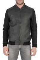 GARCIA JEANS - Ανδρικό δερμάτινο μπουφάν Garcia Jeans μαύρο