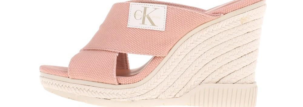 CALVIN KLEIN JEANS - Γυναικείες πλατφόρμες LAYLA CALVIN KLEIN JEANS ροζ