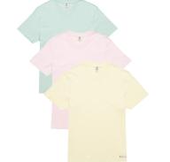 FRANKLIN & MARSHALL - Σετ ανδρικές κοντομάνικες μπλούζες Franklin & Marshall ροζ