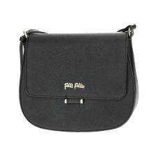 FOLLI FOLLIE - Γυναικεία μικρή τσάντα χιαστί με καπάκι Folli Follie μαύρη