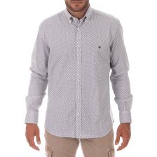 BROOKSFIELD - Ανδρικό πουκάμισο BROOKSFIELD REGULAR FIT λευκό