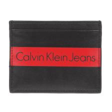CALVIN KLEIN JEANS - Unisex δερμάτινη καρτοθήκη CALVIN KLEIN JEANS μαύρο
