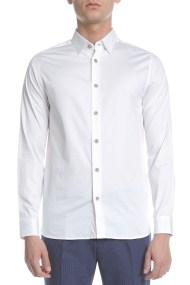 TED BAKER - Ανδρικό πουκάμισο TED BAKER λευκό