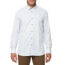TED BAKER - Ανδρικό μακρυμάνικο πουκάμισο TED BAKER HUTSPA LS DIAMOND DOT γαλάζιο