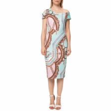 TED BAKER - Γυναικείο midi φόρεμα TED BAKER YANAR VERSAILLES PRINT BODY CON εμπριμέ