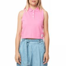 CALVIN KLEIN JEANS - Γυναικεία αμάνικη πόλο μπλούζα Calvin Klein Jeans LEDINO ροζ