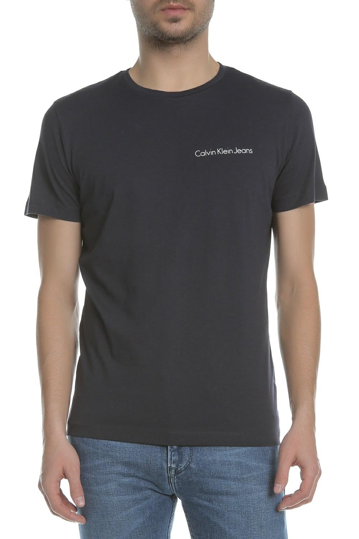 CALVIN KLEIN JEANS - Ανδρική κοντομάνικη μπλούζα CALVIN KLEIN JEANS TYPOKO SLIM μπλε σκούρο