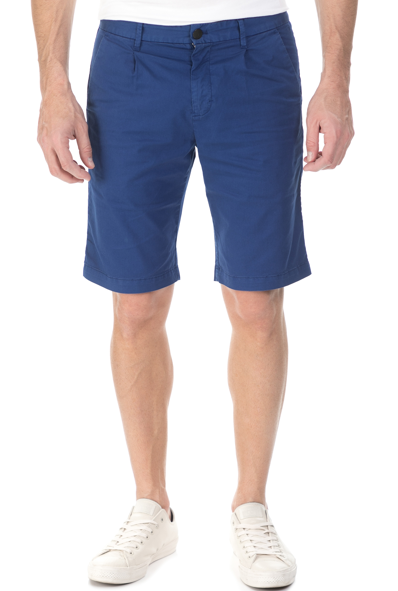 CALVIN KLEIN JEANS - Ανδρικη βερμούδα chino Calvin Klein Jeans HAYDEN PLEAT μπλε