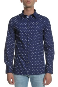 GUESS - Ανδρικό πουκάμισο GUESS SUNSET μπλε