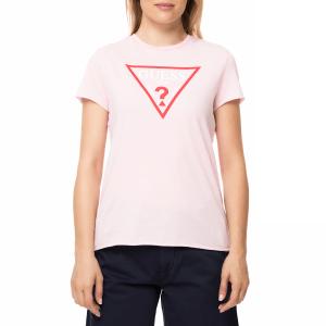 GUESS - Γυναικεία κοντομάνιικη μπλούζα GUESS ORIGINAL TEE ροζ με στάμπα