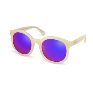FOLLI FOLLIE - Γυναικεία στρογγυλά γυλιά ηλίου FOLLI FOLLIE εκρού