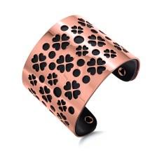 FOLLI FOLLIE - Γυναικείο ατσάλινο βραχιόλι FOLLI FOLLIE HEART 4 HEART ροζ χρυσό
