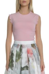 TED BAKER - Γυναικεία αμάνικη μπλούζα TED BAKER ELLIAH ροζ