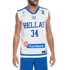 GSA - Ανδρική μπλούζα της Εθνικής Ελλάδος Basket ΑΝΤΕΤΟΚΟΥΜΠΟ Γ. λευκή