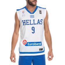 GSA - Ανδρική μπλούζα της Εθνικής Ελλάδος Basket ΜΠΟΥΡΟΥΣΗ λευκή
