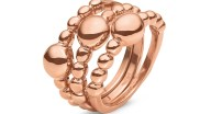 FOLLI FOLLIE - Σετ από τρία δαχτυλίδια FOLLI FOLLIE ροζ-χρυσό