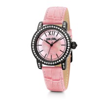 FOLLI FOLLIE - Γυναικείο ρολόι Folli Follie με δερμάτινο λουράκι ροζ