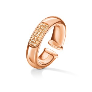 FOLLI FOLLIE - Γυναικείο επίχρυσο δαχτυλίδι FOLLI FOLLIE AWE με πέτρες