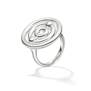 FOLLI FOLLIE - Γυναικείο επάργυρο μικρό δαχτυλίδι με κύκλους FOLLI FOLLIE BONDS ασημί
