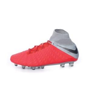 00f4f60a806 NIKE - Ανδρικά παπούτσια ποδοσφαίρου HYPERVENOM 3 ELITE DF AG-PRO  κόκκινα-γκρι