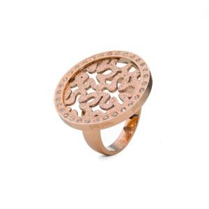 FOLLI FOLLIE - Γυναικείο δαχτυλίδι με μοτίφ FOLLI FOLLIE επίχρυσο