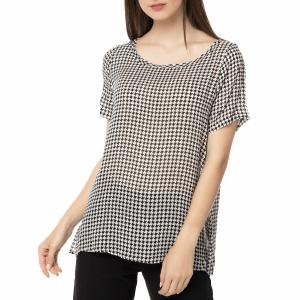 AMERICAN VINTAGE - Γυναικεία κοντομάνικη μπλούζα AXI112H16TOP AMERICAN VINTAGE με μοτίβο