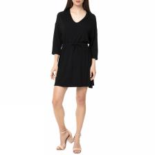 AMERICAN VINTAGE - Γυναικείο μίνι φόρεμα CASA70H16 AMERICAN VINTAGE μαύρο