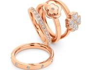 FOLLI FOLLIE - Σετ από τέσσερα δαχτυλίδια FOLLI FOLLIE ροζ-χρυσά