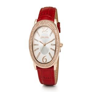 FOLLI FOLLIE - Γυναικείο ρολόι με δερμάτινο λουράκι FOLLI FOLLIE IVY κόκκινο