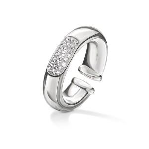 FOLLI FOLLIE - Γυναικείο επάργυρο δαχτυλίδι FOLLI FOLLIE AWE με κρυστάλλινες πέτρες