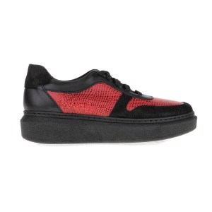 CHANIOTAKIS - Γυναικεία παπούτσια SPORT AFRICA CHANIOTAKIS μαύρα-κόκκινα