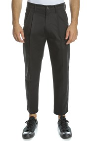 G-STAR RAW - Ανδρικό chino παντελόνι BRONSON PLEATED RELAXED TAPERED μαύρο
