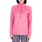 UNDER ARMOUR UNDER ARMOUR - Γυναικεία αθλητική μακρυμάνικη μπλούζα Tech 1/2 Zip -Twist ροζ 2018