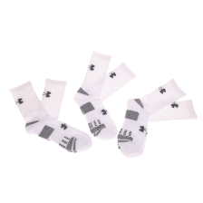UNDER ARMOUR - Σετ από 3 ανδρικές ψηλές κάλτσες HEATGEAR 3PK UNDER ARMOUR λευκές