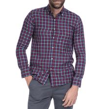 HAMPTONS - Ανδρικό πουκάμισο Hamptons μπλε-κόκκινο