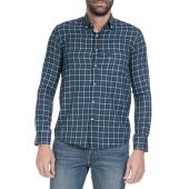 HAMPTONS - Ανδρικό πουκάμισο Hamptons μπλε-πράσινο image