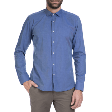 HAMPTONS - Ανδρικό πουκάμισο Hamptons μπλε