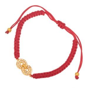 JEWELTUDE - Γυναικείο βραχιόλι κορδόνι επίχρυσο Άπειρο