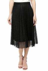 MOLLY BRACKEN - Γυναικεία μίντι φούστα MOLLY BRACKEN μαύρη