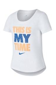 NIKE - Παιδική κοντομάνικη μπλούζα THIS IS MY TIME λευκή