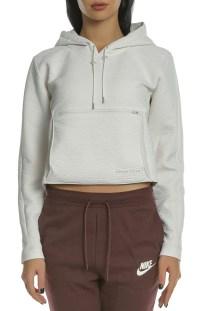 NIKE - Γυναικεία μπλούζα φούτερ NIKE NSW TCH PCK HOODIE PACKABLE εκρού