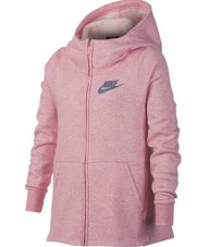 NIKE - Κοριτσίστικη ζακέτα με κουκούλα Nike Sportswear ροζ