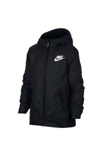 NIKE - Aγορίστικο φλις τζάκετ με κουκούλα Nike Sportswear μαύρο